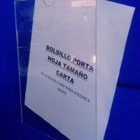 Porta Hoja Acrilico Tamaño Carta Pared
