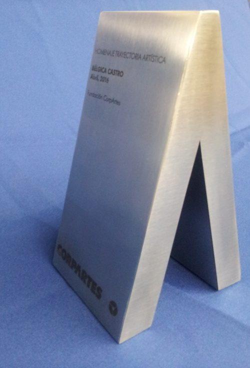 Galvano volumetrico acero inoxidable grabado laser