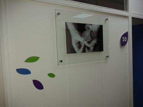 Placa cuadro doble vidrio templado 4 mm mas distanciadores