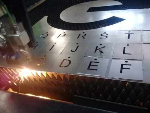 Plantillas números en corte laser