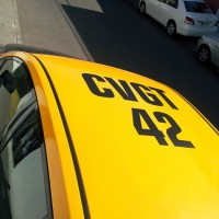 Patente taxi puertas y techo adhesivas