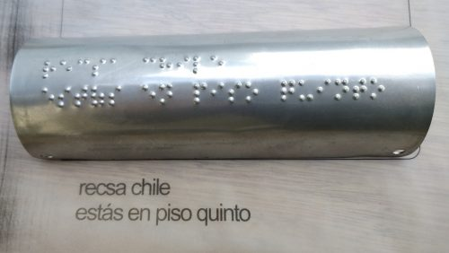 braille acero inoxidable curvo horizontal
