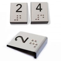braille en metalex grabado laser plegado