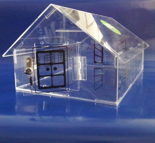 Buzon casa acrilico transparente