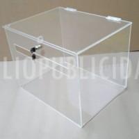 buzon de acrilico transparente