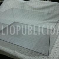 Cubre maqueta acrilico transparente