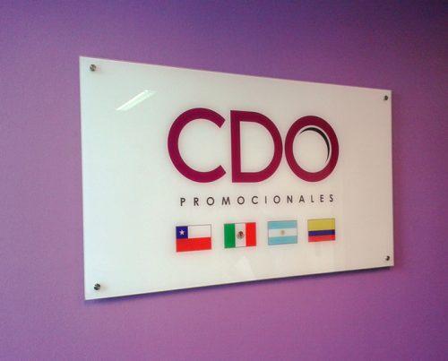 cuadro corporativo cristal 6 mm grafica digital impresa efecto espejo fondo blanco