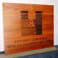 cuadro madera grabado laser barnizado y teñido