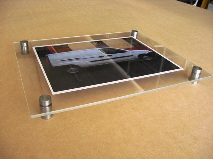 Porta grafica doble acrilico