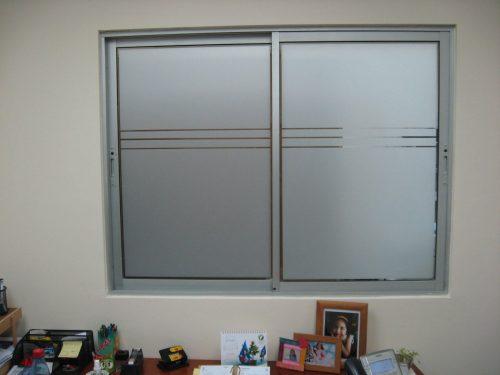 film empavonado ventana corte lineal