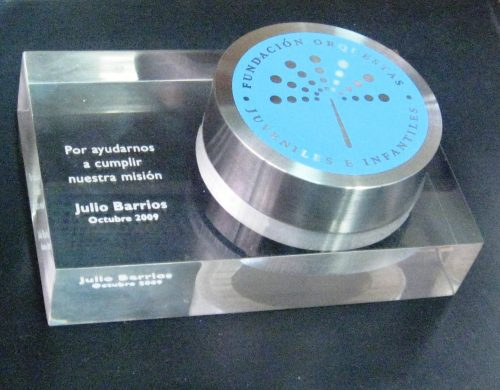 galvano bloque acrilico 20 mm grabado laser con rebaje en router