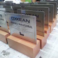 galvanos acero inoxidable grabado laser base madera