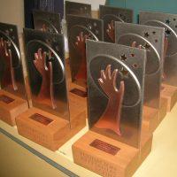 galvanos base madera, 2 capas de acero y 2 de bronce corte laser
