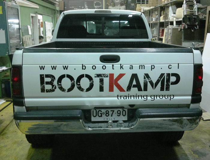 Grafica vehicular portalón camioneta