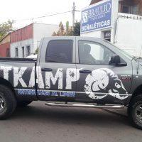 grafica vehicular autoadhesivo pvc costados camioneta
