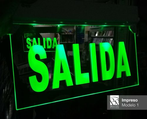 Salida de Emergencia Led