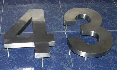 letras números acero inoxidable volumetricos