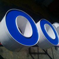 letras volumetricas frente acrilico borde aluminio doblado en maquina automática