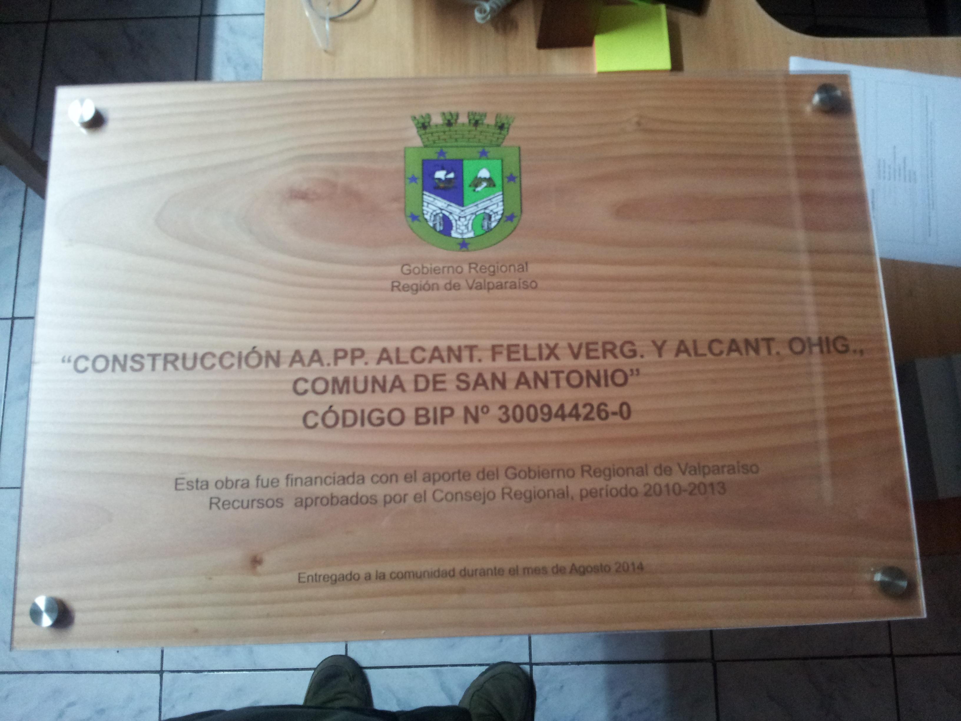 Placas conmemorativas madera grabado laser