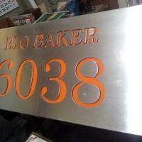 placa acero inoxidable 3 mm corte laser acrilico interior