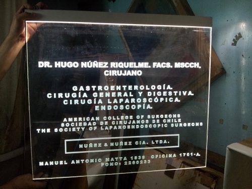 placa acrilico grabado laser efecto espejo