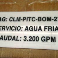placa acrilico grabado laser rehundido pintado
