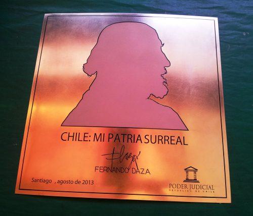 placa bronce fotograbado y arenado