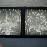Placa acrilico grabado y corte laser