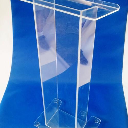 Podium acrilico clear 120 cm de alto