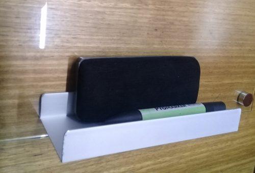 porta borrador aluminio y borrador plástico tela