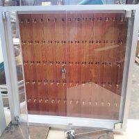 Caja porta llaves marco aluminio puertas acrilico