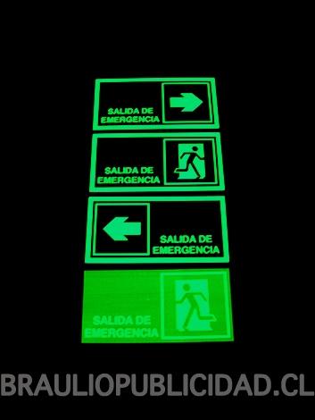 Señaletica fotoluminiscente vision nocturna y diurna