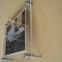 Doble acrilico 3 mm porta afiche con distanciadores
