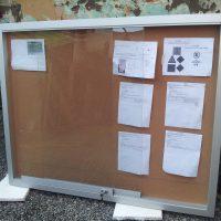 diario mural corcho marco aluminio robusto