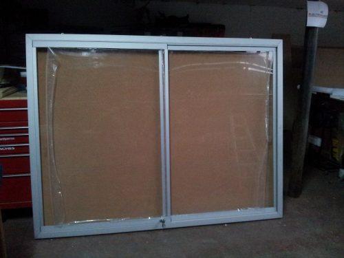 diario mural corcho puertas corredera acrilico