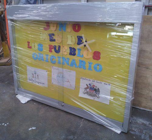Diario mural corcho tela cenefa recta 15 y 20 cm