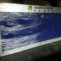 diario mural corcho tela color cenefa recta 15 cm en aluminio compuesto