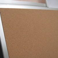 Diario mural de corcho natural 5 mm plano marco aluminio