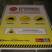 señal galvanizada uso elementos de seguridad