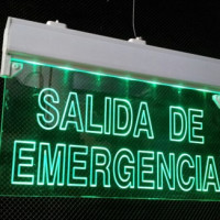 Letrero Led Salida Emergencia Luminoso